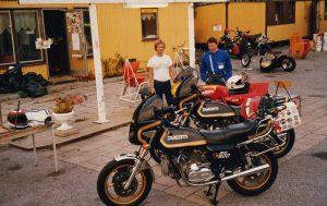Augusti 1985 Lidingö motorcykel klubb Micke Werkelin och jag